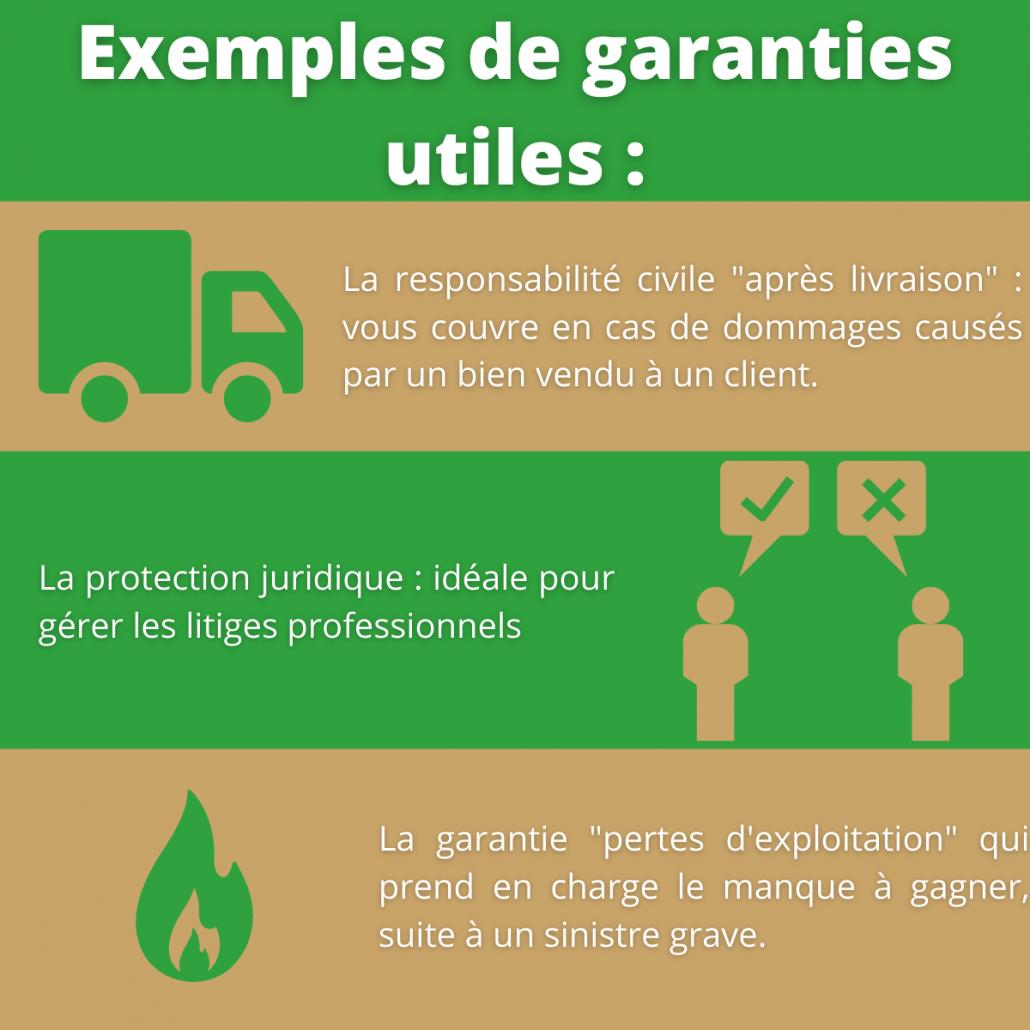 Exemple de garanties utiles pour RC pro